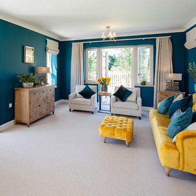 residential house living room flooring