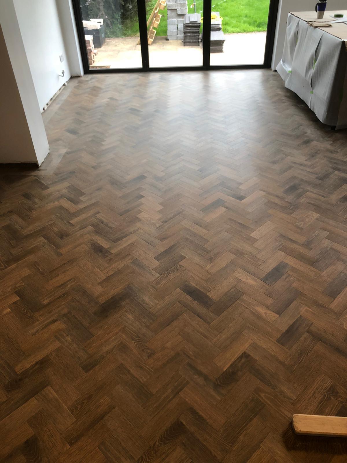 wooden tile flooring
